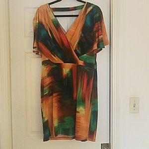 Multicolor stretchy dress